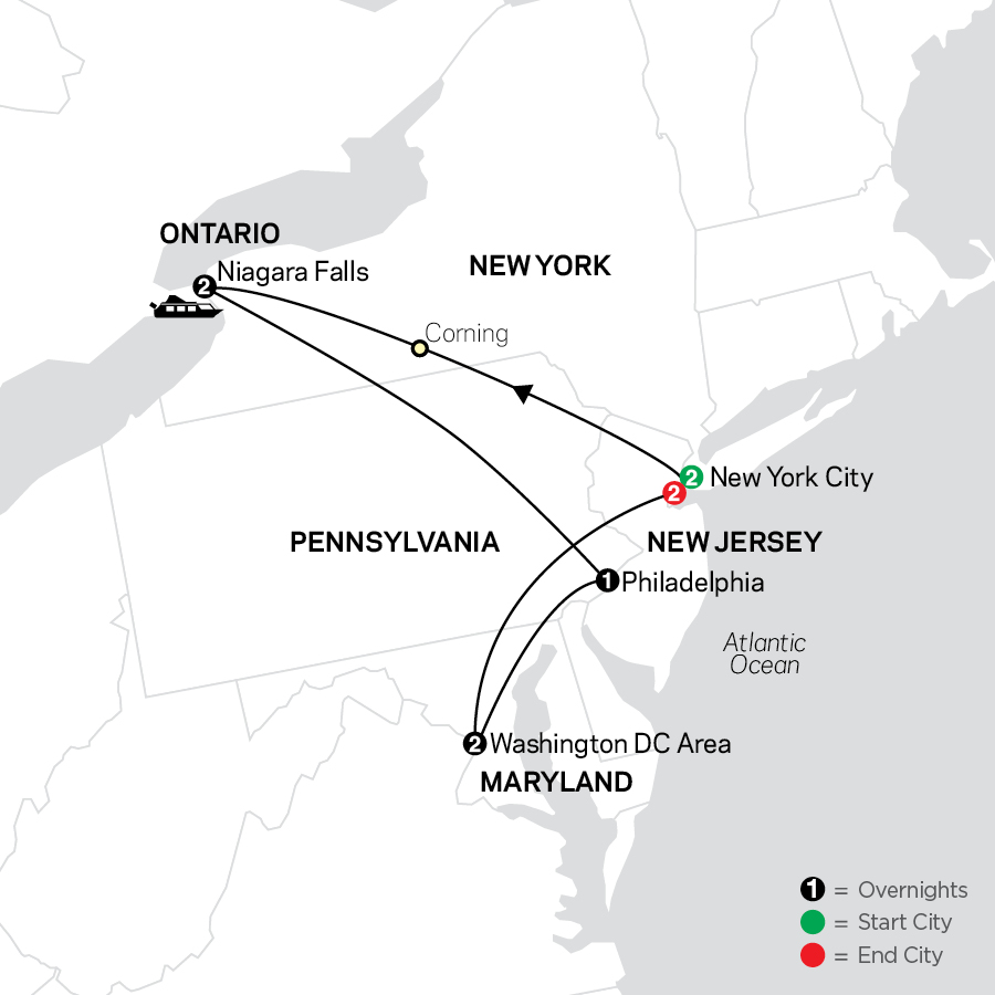 New York City, Niagara Falls & Washington DC