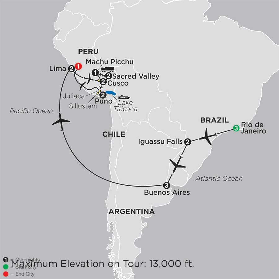 Ultimate South America map