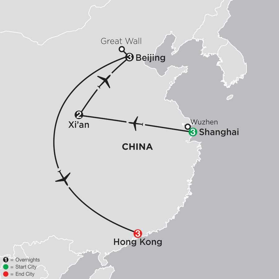 A China Experience with Hong Kong map