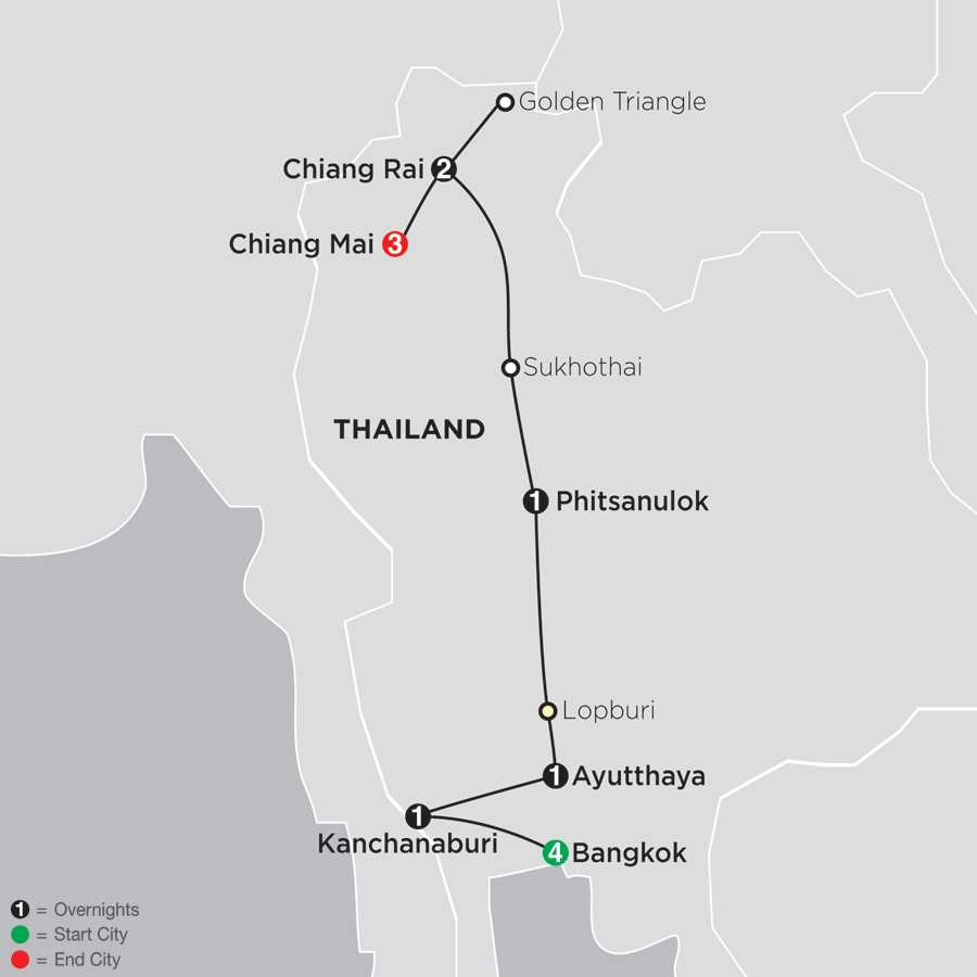 Thailand Experience map