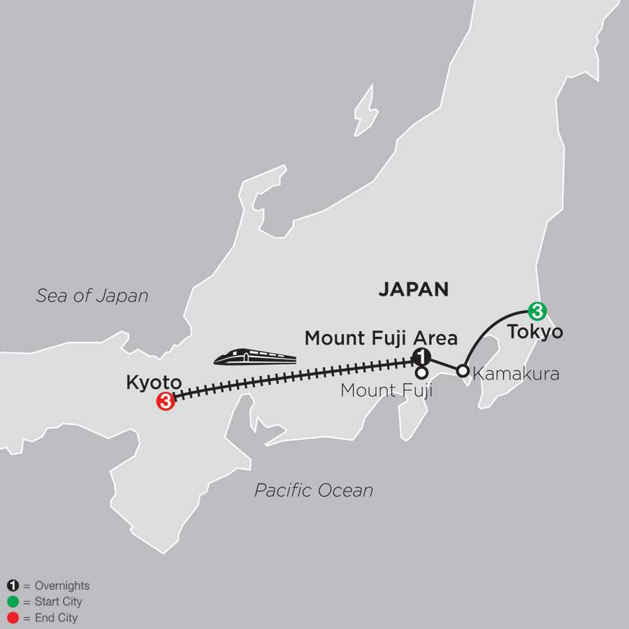 Classic Japan: The Golden Route map