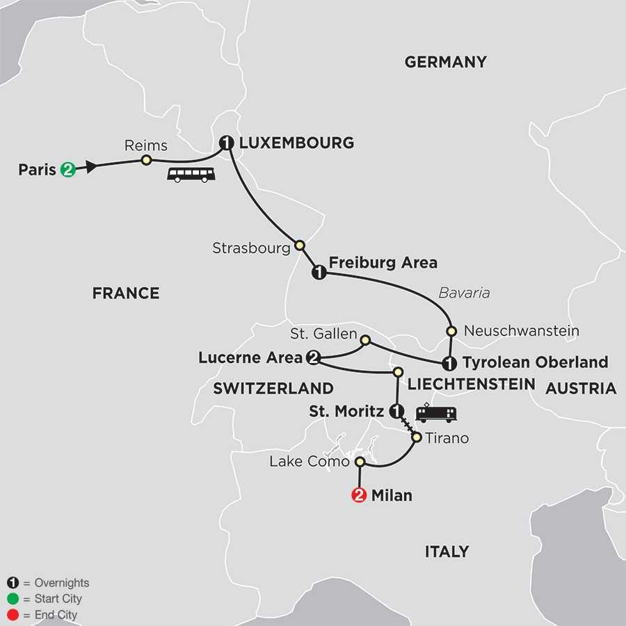 Europe's Photo Album map