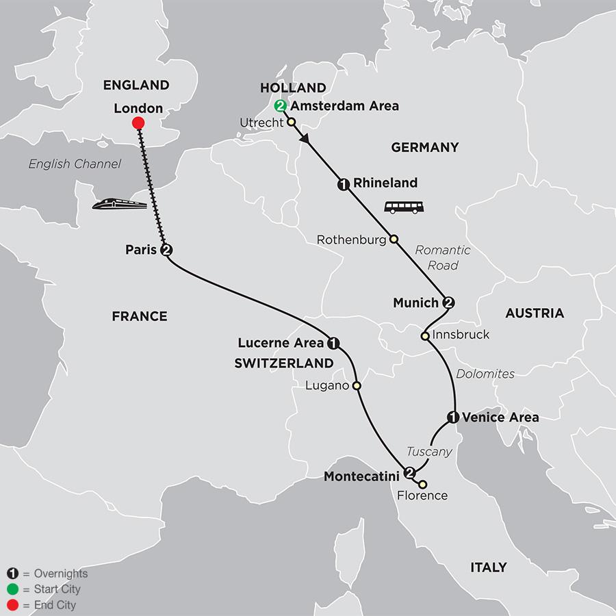 European Kaleidoscope map