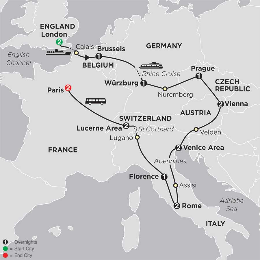 Cosmopolitan Europe map