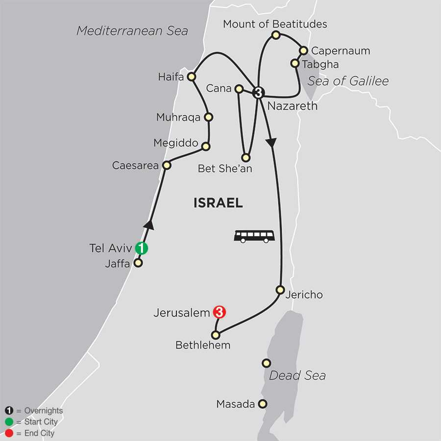 Holy Land Discovery – Faith-Based Travel map