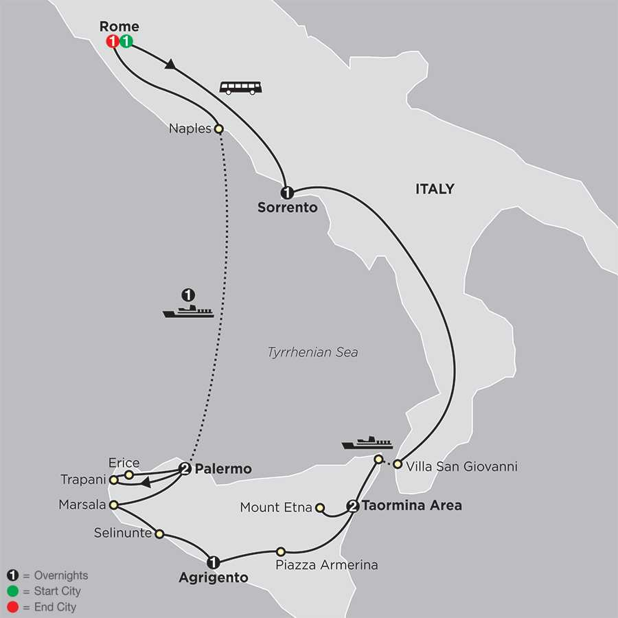 Sicily Discovery map