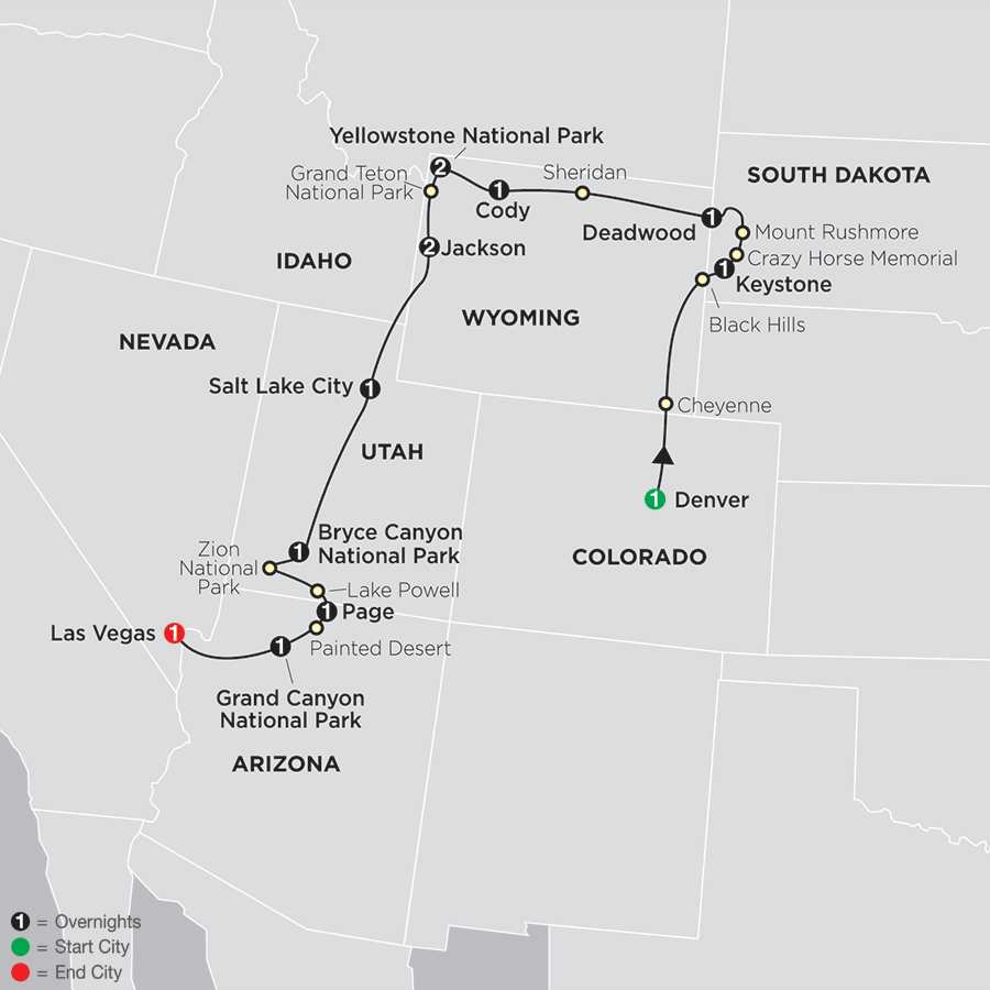 National Parks & Canyon Country map