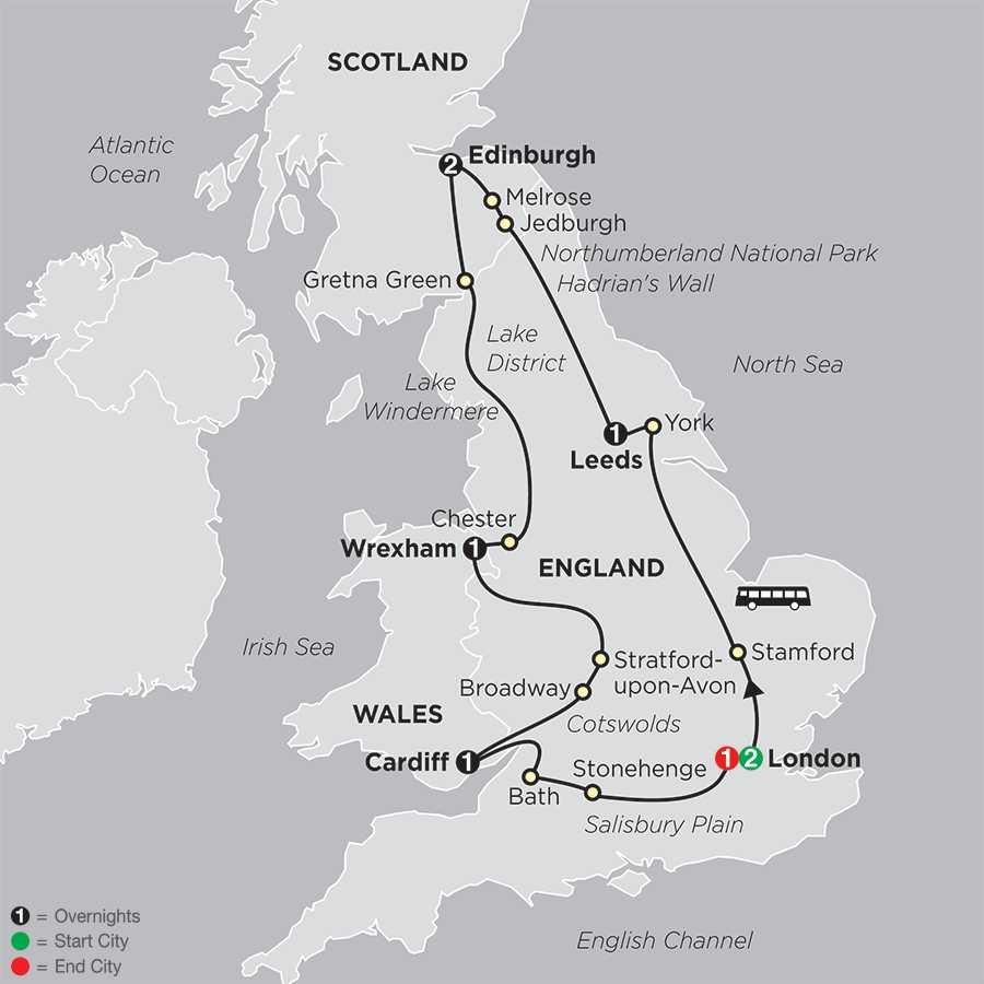 British Panorama map