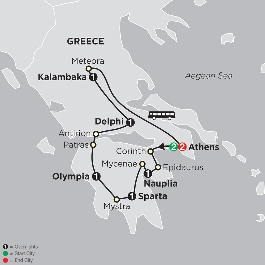 The Best of Greece map