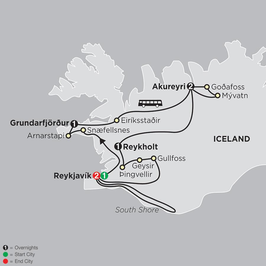 Idyllic Iceland map