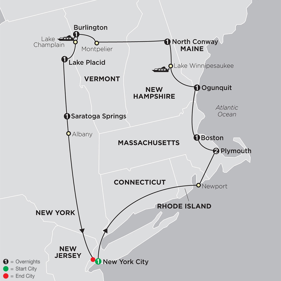 New England Traditions map