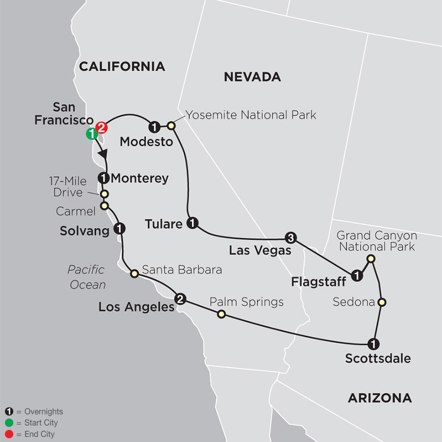 Western Treasures map