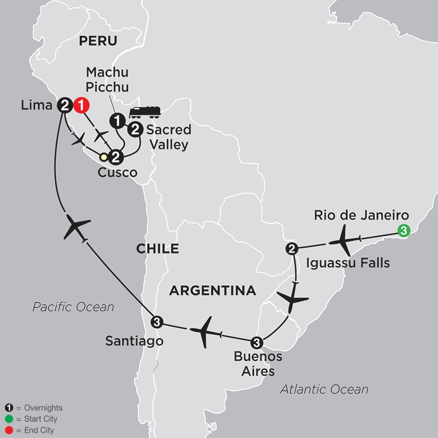 Brazil, Argentina & Chile Unveiled with Peru map