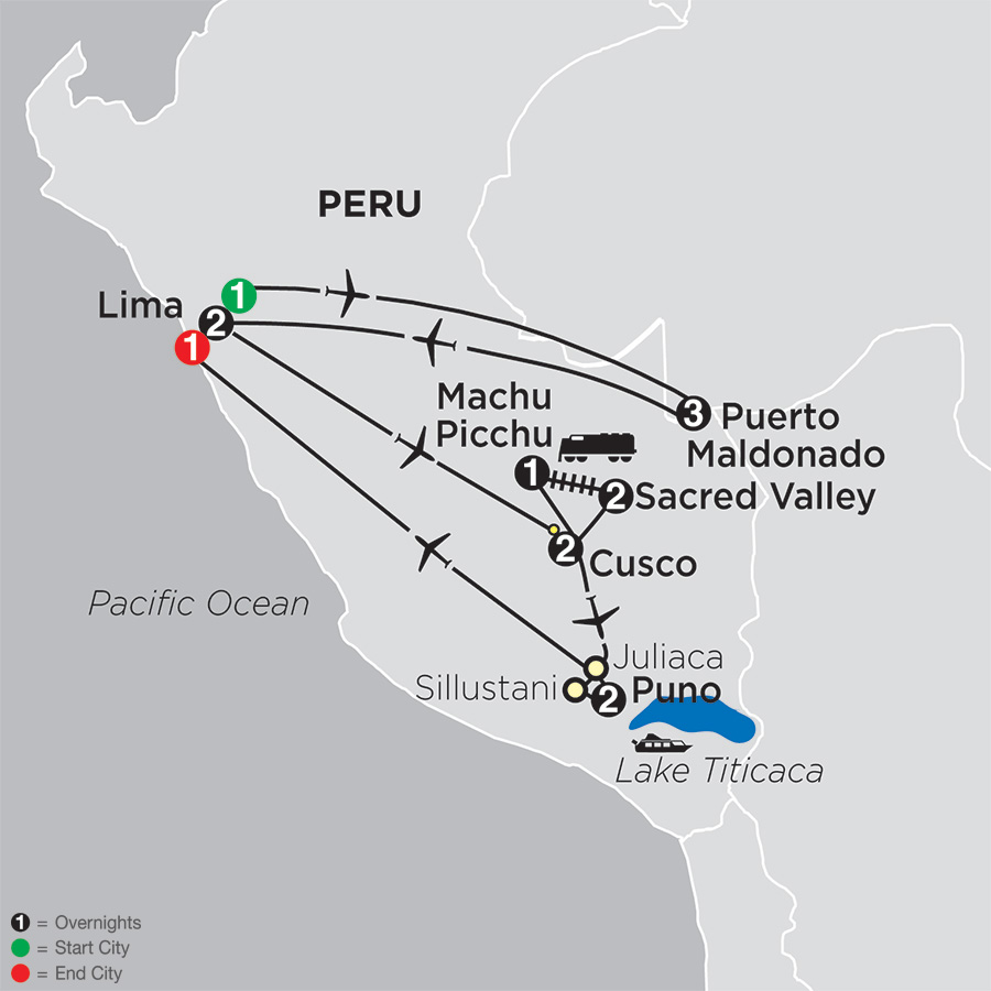 Mysteries of the Inca Empire with Peru's Amazon map