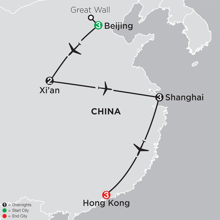 China Experience with Hong Kong map