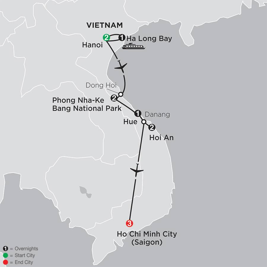 Simply Vietnam map