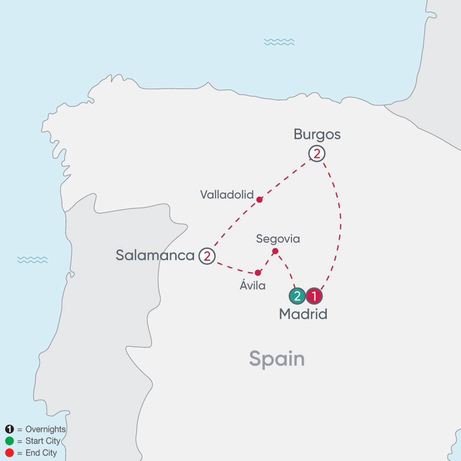 Spanish Heritage Explorer map