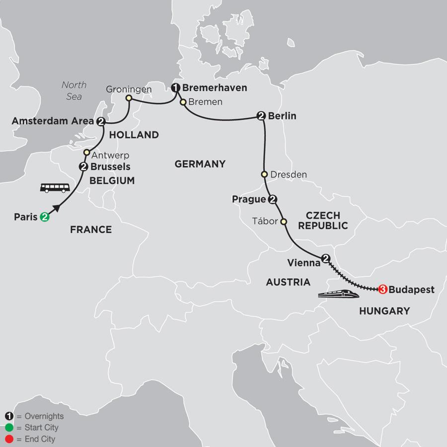 Tour European Capitals - Cosmos® European Tours