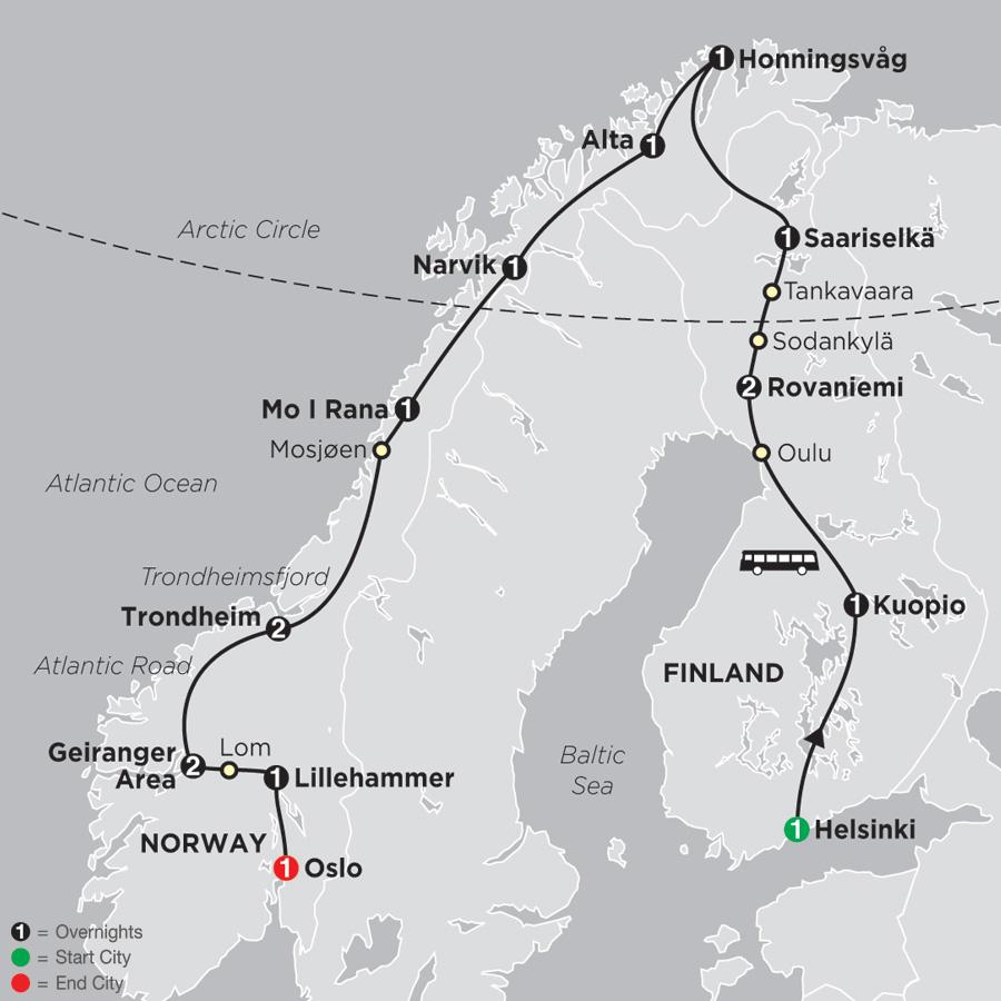 arctic circle tour norway tour finland tour cosmos