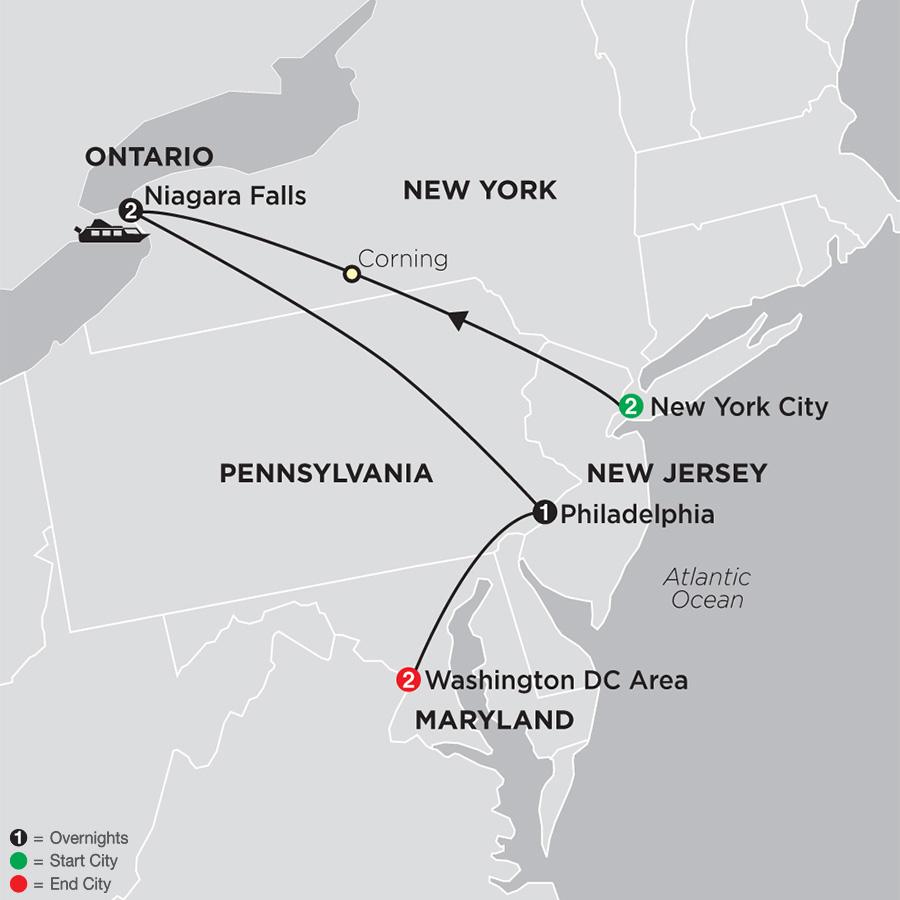 New York Tour Niagara Falls Tour Washington Dc Tour Globus