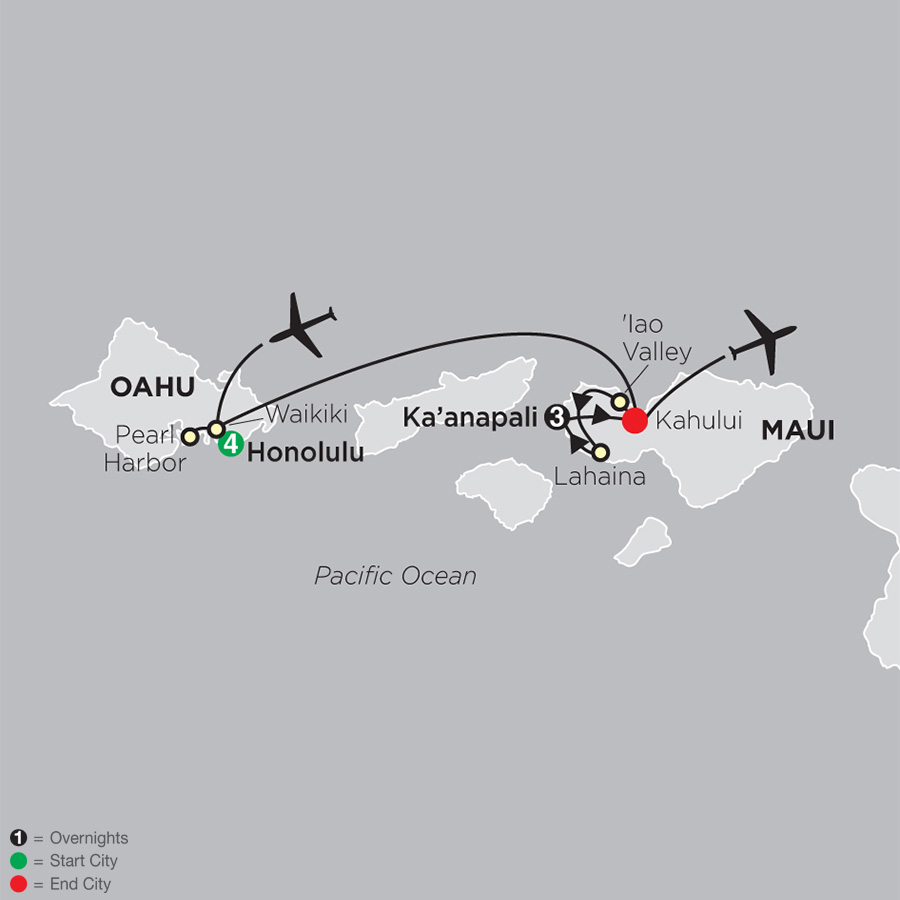 Essential Hawaii map