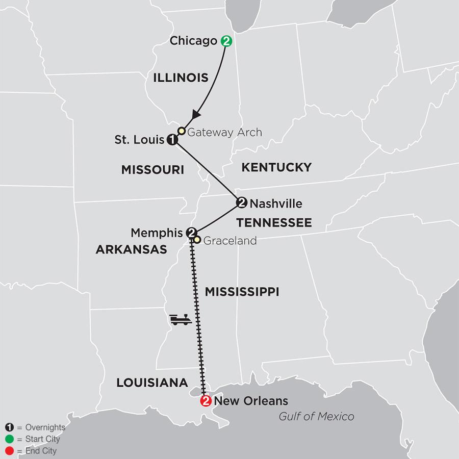 Dixieland & Rhythms map