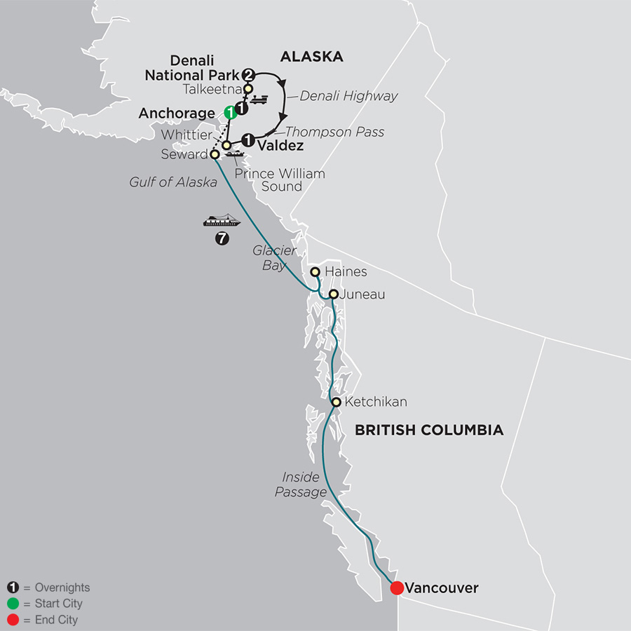 Alaska Cruise Tours - Cosmos® Affordable Alaska Cruise Tour Packages