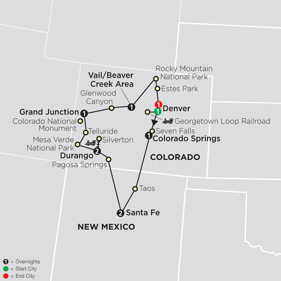 Rocky Mountain Discovery map