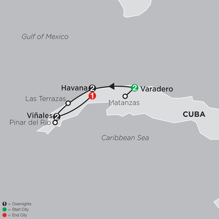 Cuba Discovery map