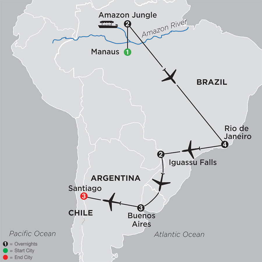 Brazil, Argentina & Chile Unveiled