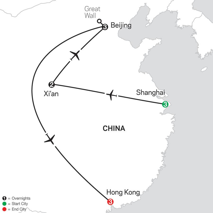 China Experience with Hong Kong map