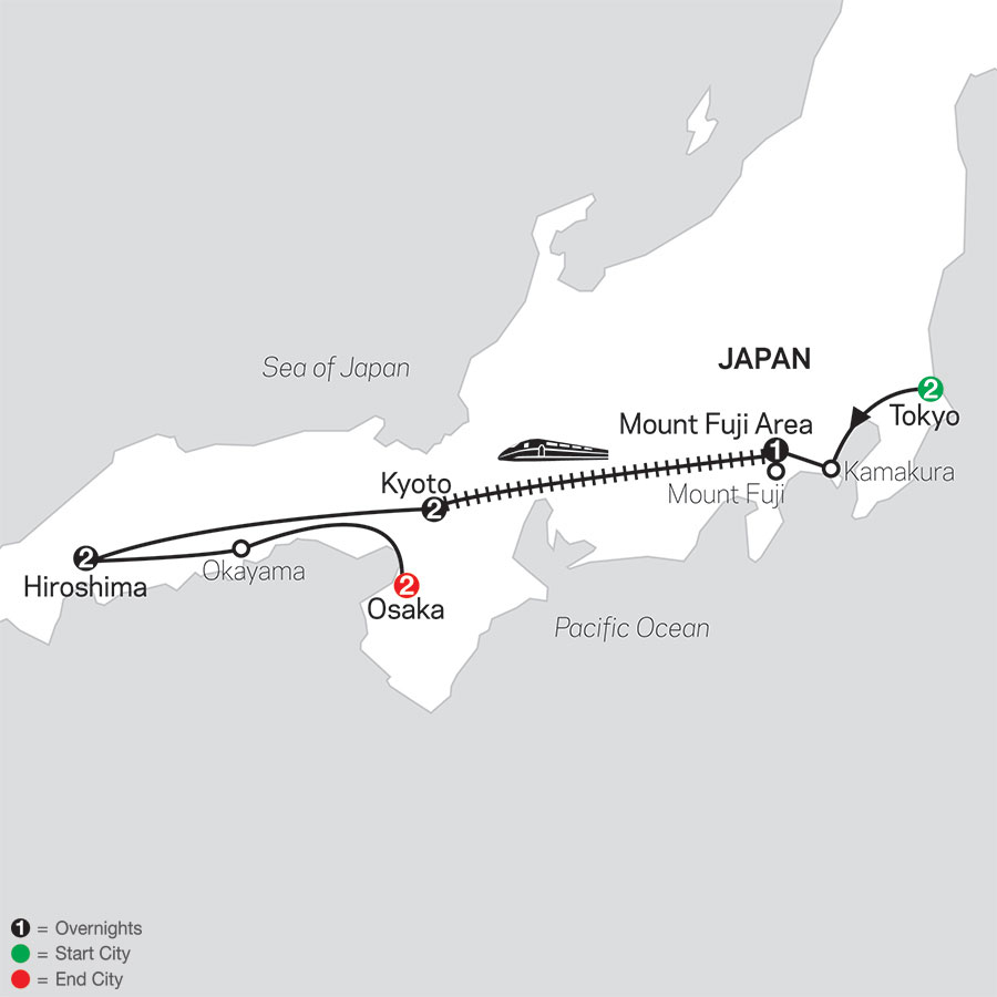 Timeless Japan map