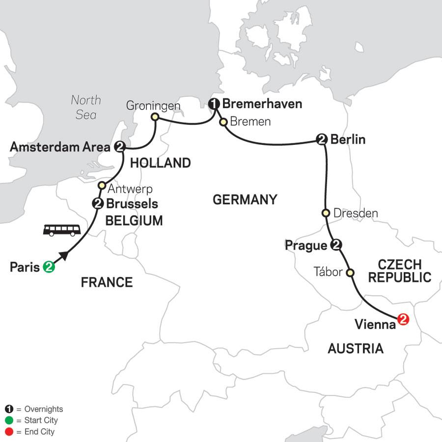 European Capitals map