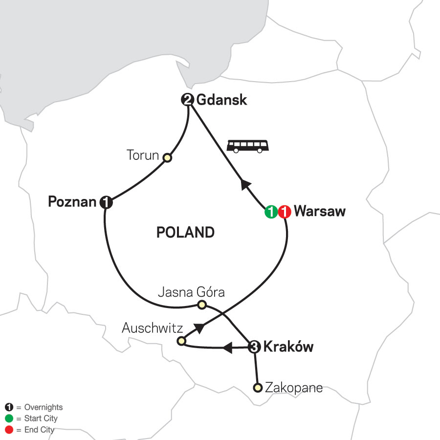 Portrait of Poland map