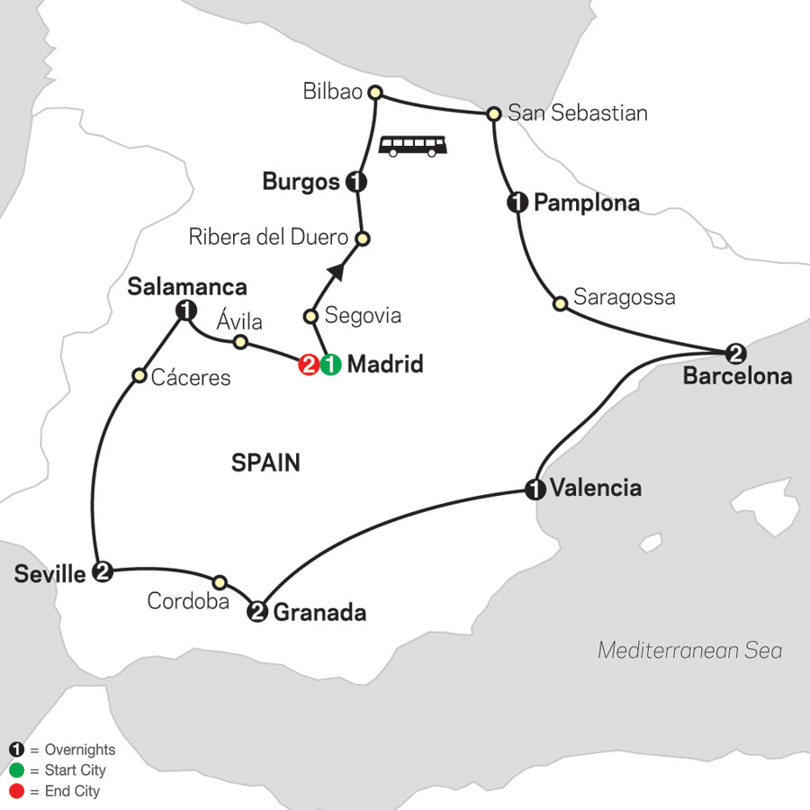 Sensational Spain map