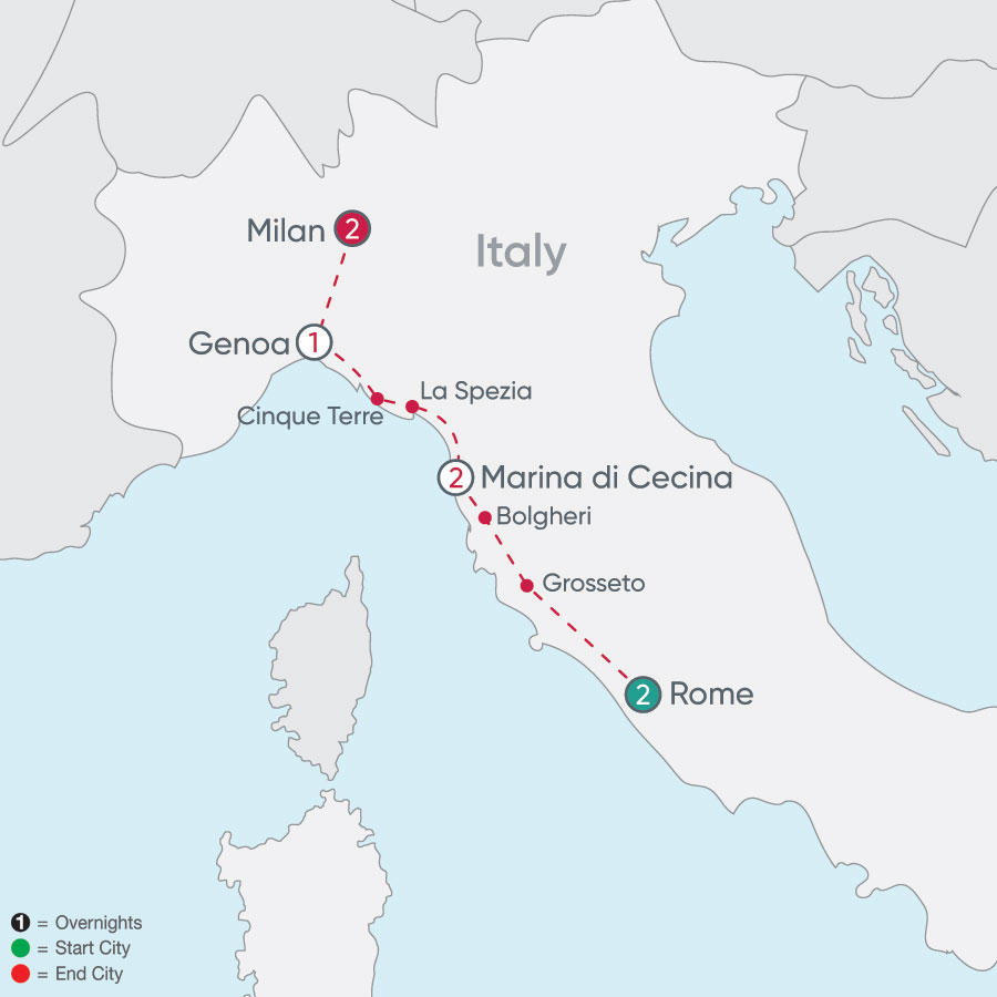 Italian Explorer map