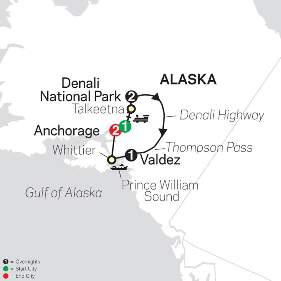 Grand Alaskan Adventure map