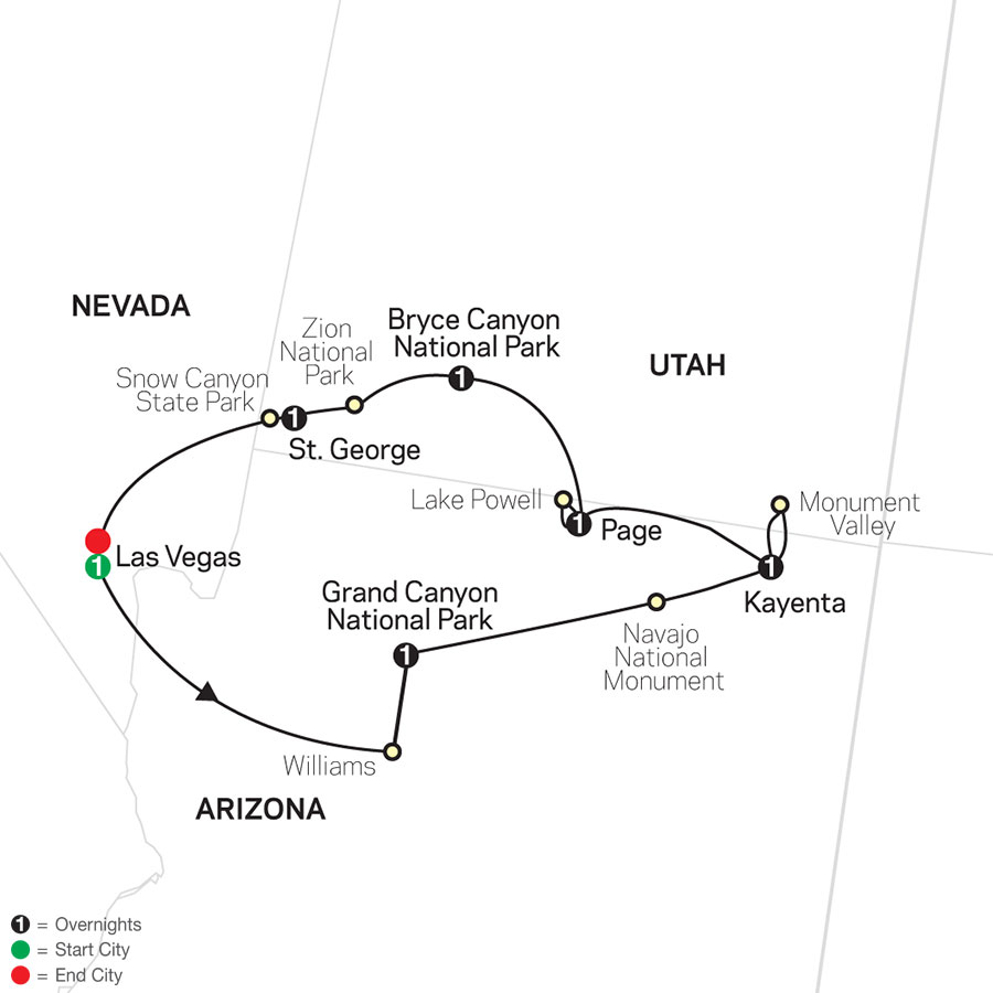 Highlights of the Canyonlands map