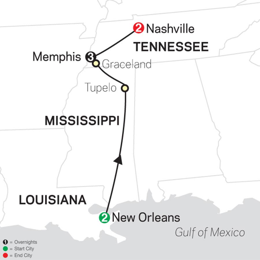 Southern Sounds map