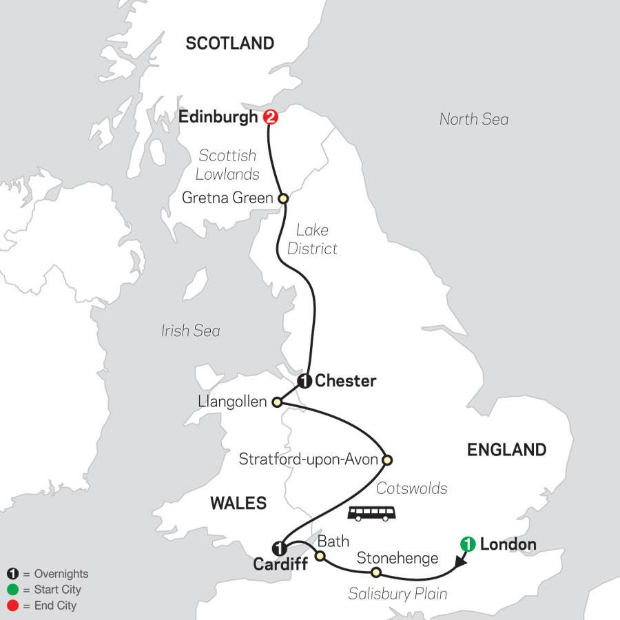 British Highlights map