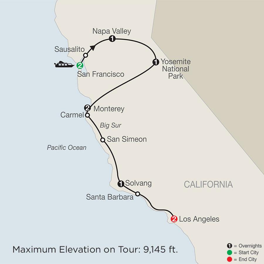 California Classics map