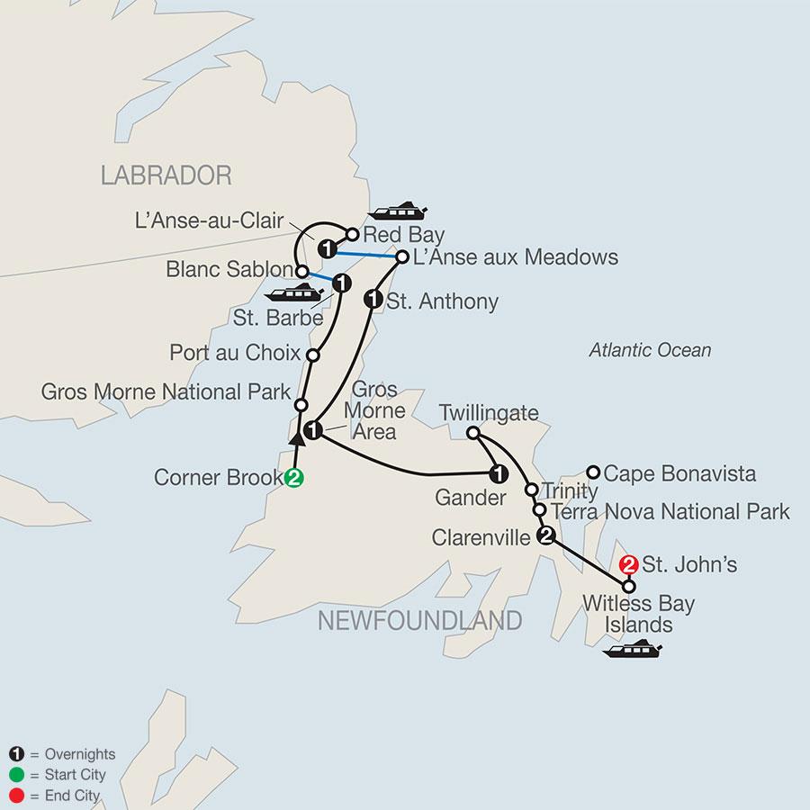 Newfoundland & Labrador map