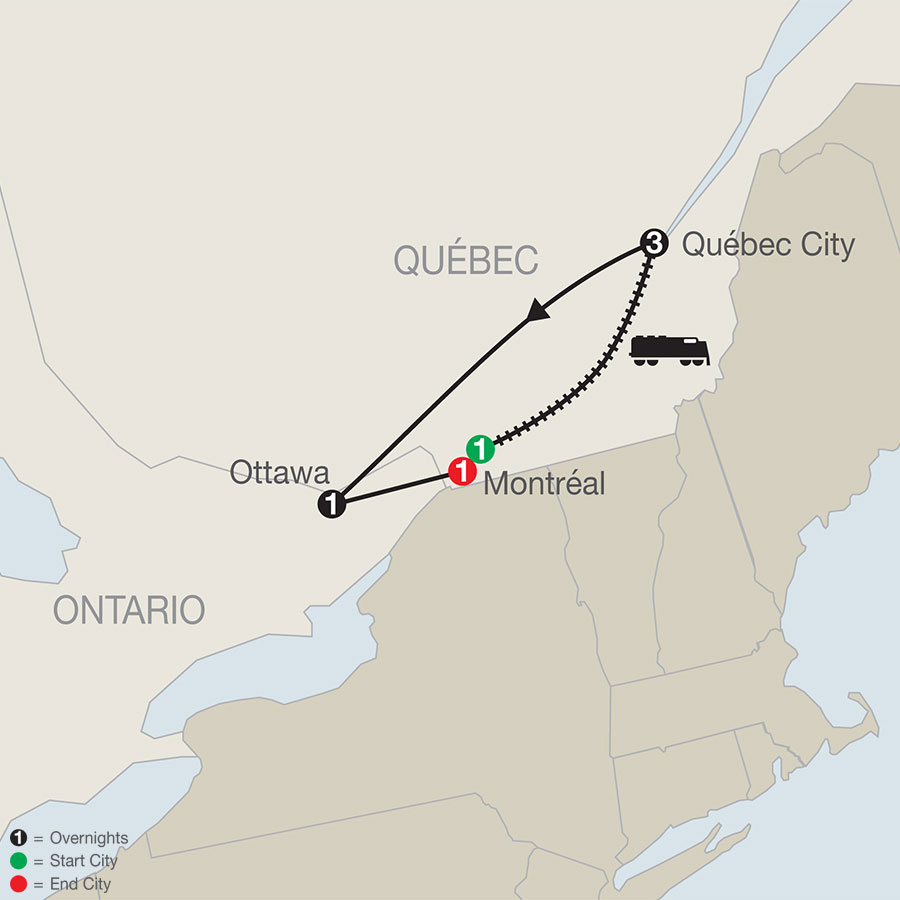 Québec Winter Carnival map