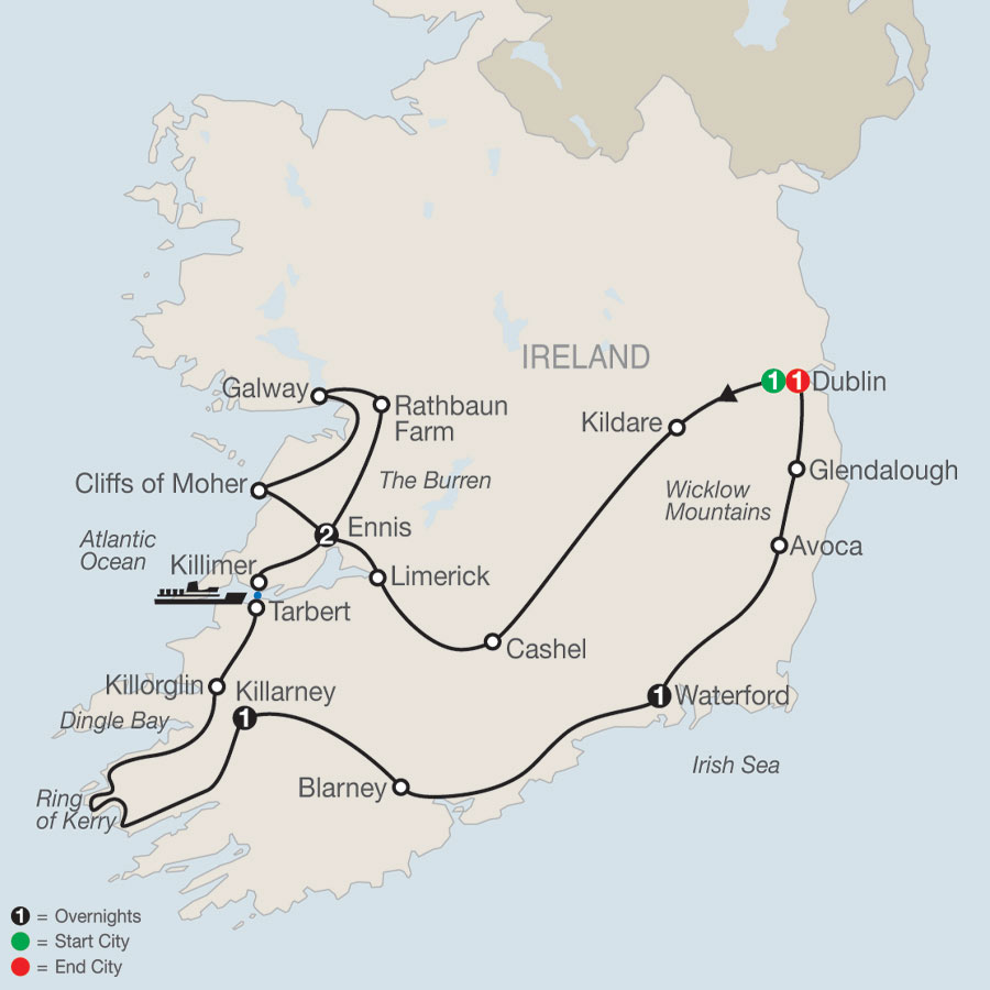 Introduction to Ireland map