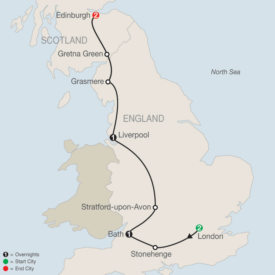 British Escape map