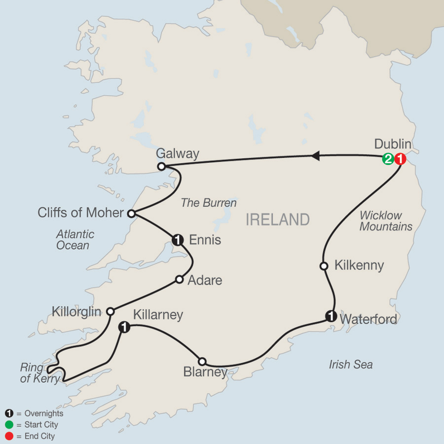 Irish Escape map