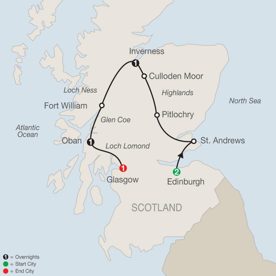 Scottish Highlands Escape map