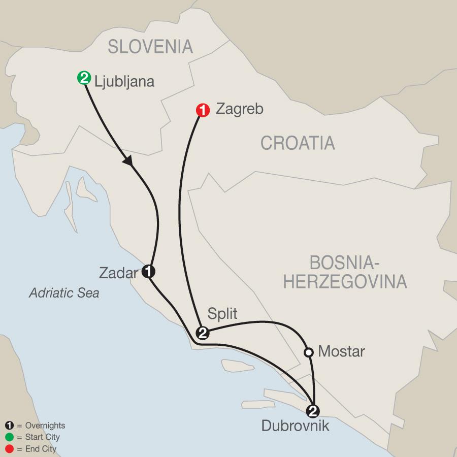 Croatian Escape map