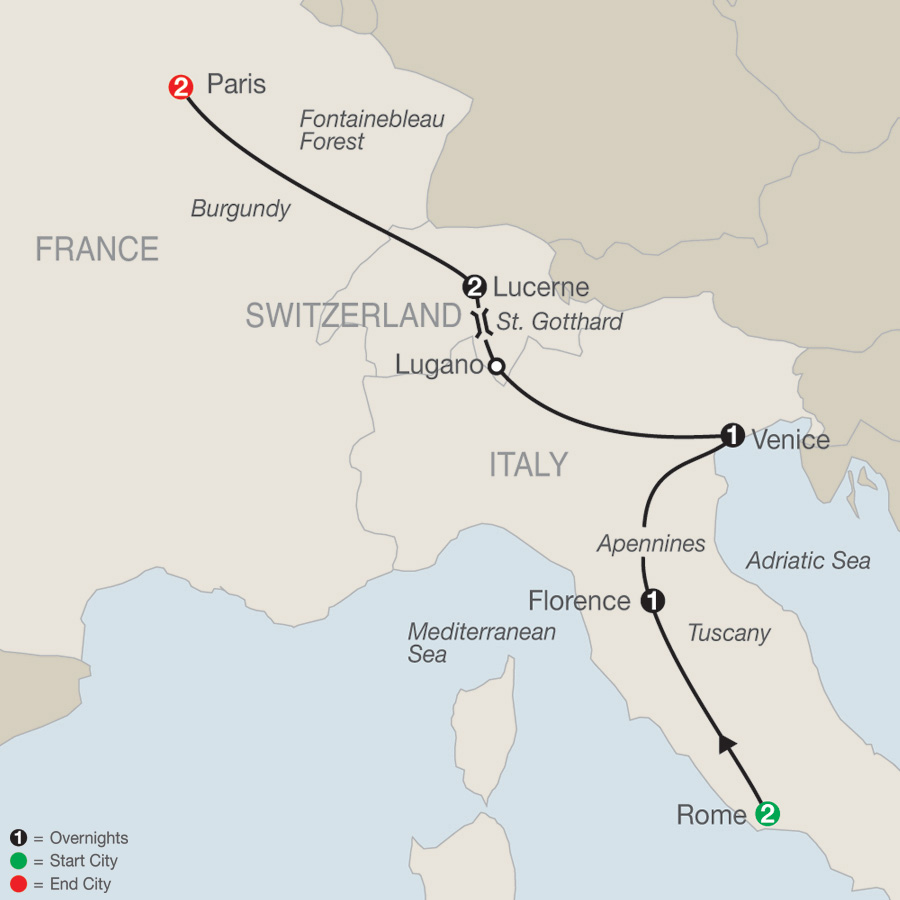 European Escape map