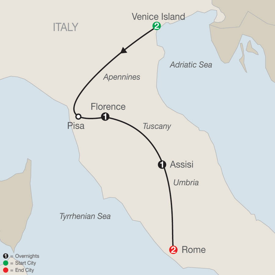 Bella Italia Escape map
